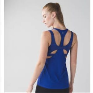 Lululemon All Sport Support Tank In Blue